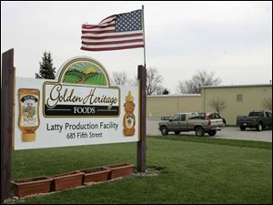 Golden Heritage Foods LLC in Latty, Ohio, is the nation s third largest producer of honey.