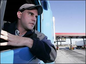 Tractor-trailer driver Matt Frey