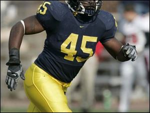 Wolverines linebacker David Harris is co-owner with Mike Hart of the team's Bo Schembechler Award bestowed on the most valuable player by a vote of Michigan teammates.