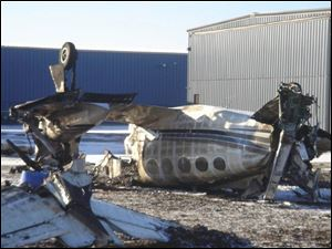 The Cessna Corsair that carried Dena Nachtrab and Jaimie Supinski-Nachtrab flipped during a landing at Harbor Springs Airport in Michigan. The women and the pilot escaped from the burning plane.