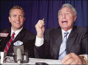 Kirk Herbstreit, left, and ESPN sidekick Lee Corso answer