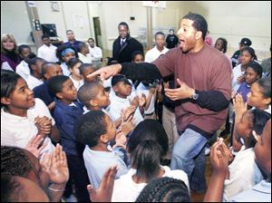 Jim Jackson at Nathan Hale Elementary School.