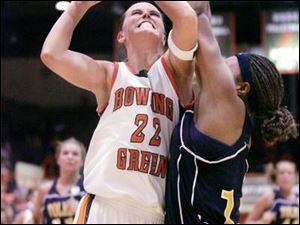 Ali Mann can score inside for Bowling Green, as she did against Toledo's Ta'Yani Clark this season at Anderson Arena. The Rockets might also have to figure out how to stop her when she spells the Falcons' Kate Achter at the point during the MAC tournament.