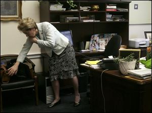 Marcy Kaptur says her 90-hour work week in Congress leaves little time for other activities.