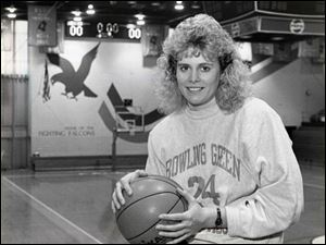 Jackie Motycka Mossing finished her career at Bowling Green with 2,122 points and 797 rebounds. Her teams went 96-23.