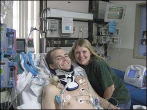 Tracy Keil posts updates about her husband, Army Staff Sgt. Matthew Keil, on the Web from a rehabilitation hospital.