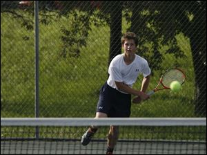 Derek Than is back as the No. 1 singles player for St. John s. Than, a senior, won the City League