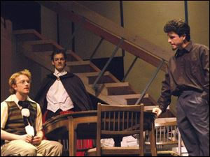 From left, Joshua Jastal, Turner Ferrara, and Chad Paben in a