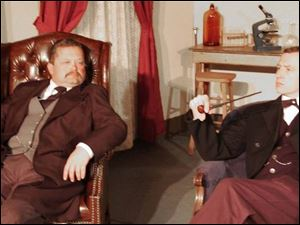 Kent McClary, left, as Dr. Watson and Simon Morgan-Russell