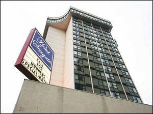 The 19-story hotel was built in 1970 as a Holiday Inn.