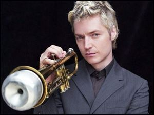 Chris Botti will be in concert at 7:30 tonight at the Stranahan Theater, 4645 Heatherdowns Blvd. Tickets are $35, $45, and $55 from Ticketmaster and the box office, 419-381-8851.