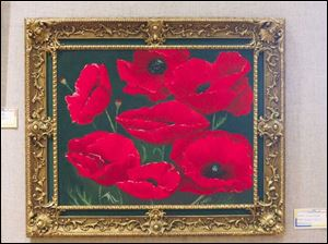 Dorothy s Poppies, an acrylic painting by Dorothy Zemper, is among 118 works entered inthe Prizm-sponsored show.