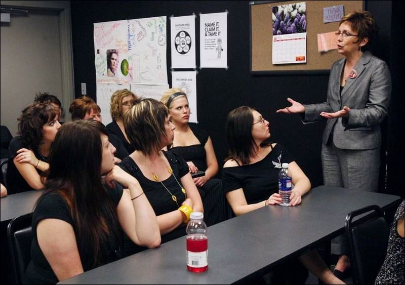 Hair stylists receive training in handling domestic for Academy professional salon
