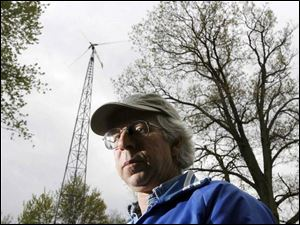 Gerald Giesler installed his own turbine to capture the power