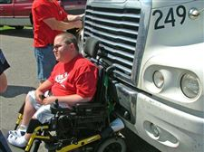 Big-rig-takes-man-in-wheelchair-for-a-wild-ride