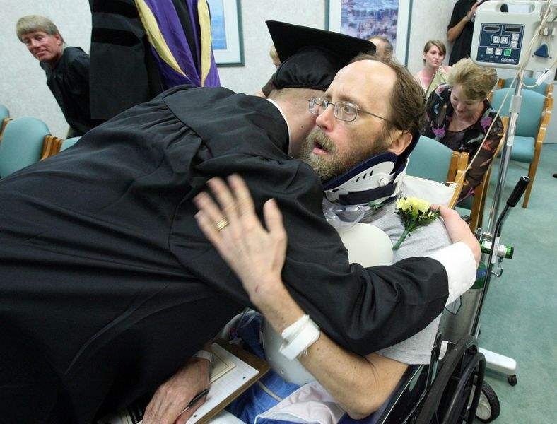 Paralyzed-man-sees-son-graduate-at-special-Northview-commencement-ceremony