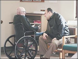 Tony (James Gandolfini) visited Uncle Junior (Dominic Chianese)