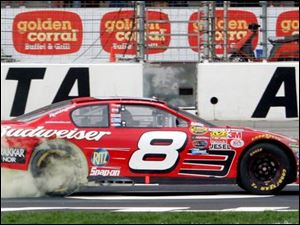 Dale Earnhardt Jr.'s Budweiser Chevrolet, with its No. 8 on the doors, might take on a new look with Hendrick Motorsports.