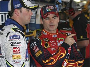 Jeff Gordon, right, and Jimmie Johnson are the stars for Henrick, but they'll be sharing the spotlight with Dale Earnhardt.