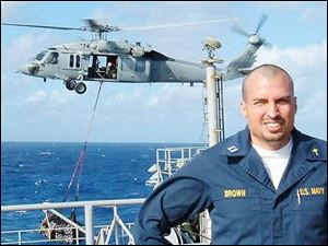 Lt. Dale Brown, an ordained minister and U.S. Navy chaplain from Columbus, is serving