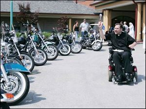 Motorcylists, were cheered on by nuns at the Big Ride for the Little Sisters of the Poor benefit in Oregon.