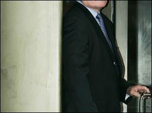 Steven Griles leaves Federal Court in Washington on March 23, 2007, after pleading guilty to obstruction of justice.