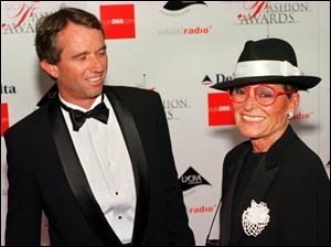 Robert F. Kennedy Jr. appeared with Liz Claiborne at the Council of Fashion Designers of America awards in New York in June 2000 when Claiborne was honored with the lifetime achievement award.
