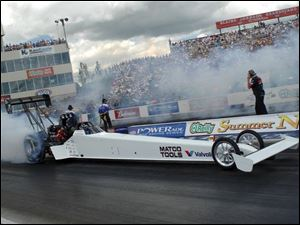 Rod Fuller, the points leader in the National Hot Rod Association's Top Fuel division, will compete at Norwalk.