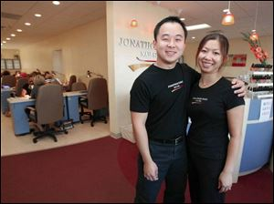 When Vinh To and his wife, Donna Le, opened their salon, at first called Asia Nails, in 2001, their Maumee business was small. Since then, the size of their spa has doubled.