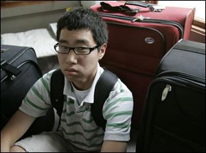 Andrew Jung, 17, will be flying out of Toledo tomorrow and will spend the next year with his parents in South Korea.