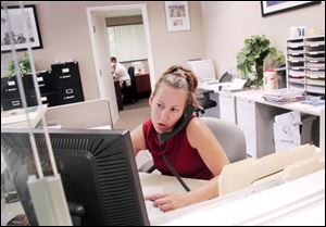 Melissa Goyette, and about 1,200 of her co-workers lost their jobs with Mortgage Lenders earlier this year. She now works in a lower-paying job with Bond Financial Services in Longmeadow, Mass.