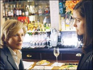 Glenn Close, left, plays the charming but ruthless attorney Patty Hewes, and Rose Byrne is Ellen Parsons, a recent