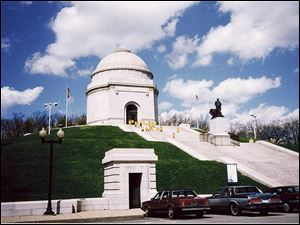 The McKinley monument in Canton, Ohio.