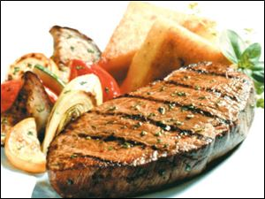 Beef Steak with Grilled Vegetable Salad