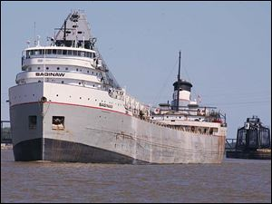 The Saginaw enters the Port of Toledo, where iron ore (taconite) and coal sector tonnage show double-digit gains.