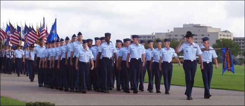 Graduation and family day at lackland air force base in texas includes