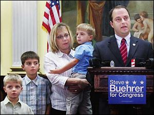 State Sen. Buehrer and family during his announcement for the Fifth District seat