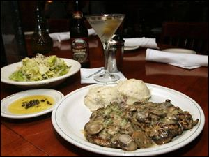 Among the gluten-free foods on the menu at Carrabba's is Pollo Rosa Marie, a chicken breast stuffed with Fontina cheese and proscuitto topped with mushrooms and a basil lemon sauce.