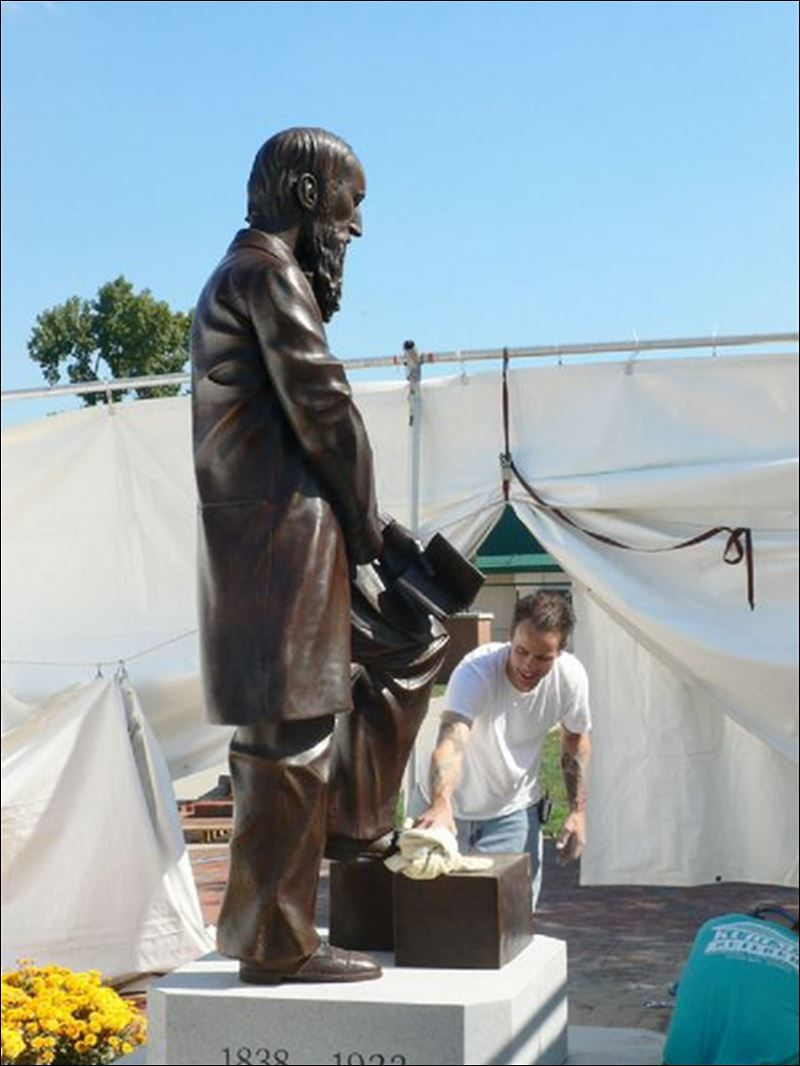 Statue to be dedicated today on Ohio Northern Universitys