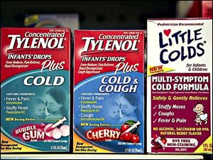 "Some recalled medicines, incluing the ""Little Colds"" package."