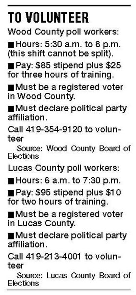 Election officials recruit volunteers to help at the polls the blade debbie hazard director of the wood county board of elections sent letters expressing the need for volunteers to about 15 high schools in the county altavistaventures Choice Image