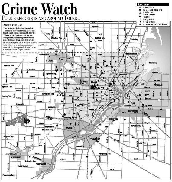 Suburban Crime Reports Crime Map The Blade