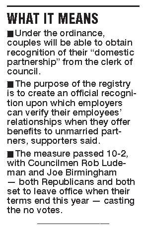 registries domestic partners registry