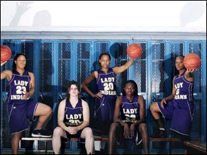 Waite hopes to contend for a fourth straight City League championship with, from left, Courtney Jackson, Stephanie Keaton, Kenya Middlebrooks, Natasha Howard and Keaira Marsenburg leading the way.