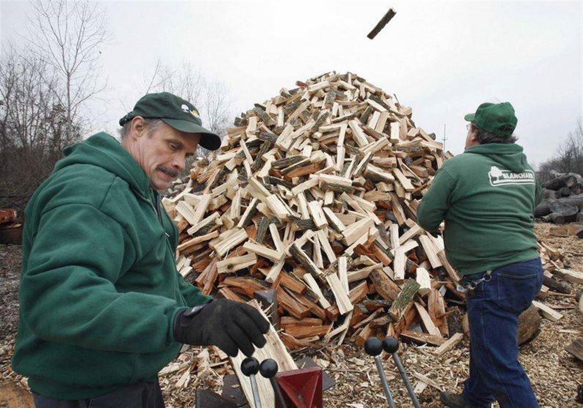 Ron Shepherd Left And Norman Small Add To The Growing Firewood Collection At Blanchard
