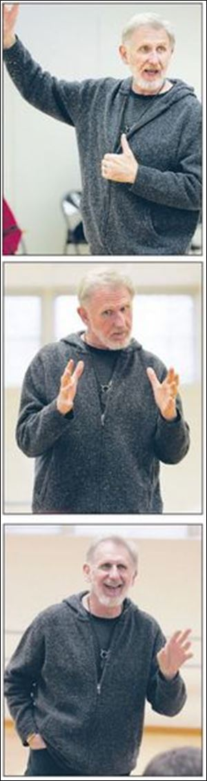 Actor Rene Auberjonois in a recent master class on acting at the University of Findlay.