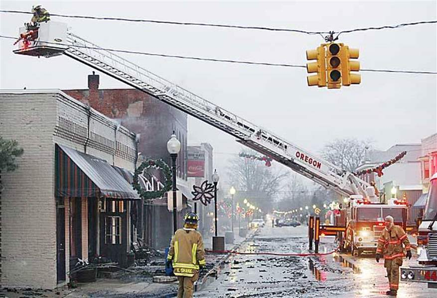 Fire Damages Downtown Genoa Business The Blade