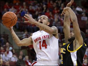 Ohio State player Jamar Butler, the most experienced senior in the starting lineup, has shown great leadership. The 6-1 point guard is avera