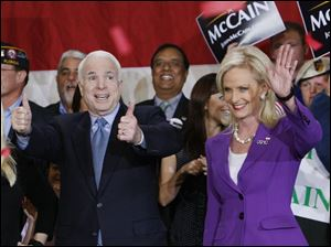McCain is excited about the results so far in Florida.
