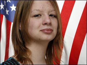 Maumee High School senior Carrie Drouillard qualified for the national VFW contest.